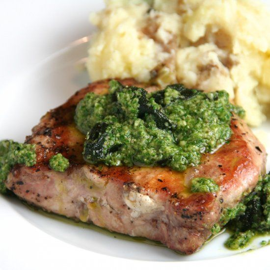 Sage-Brined Pork Chops With Brown Sugar Glaze Recipe — Dishmaps