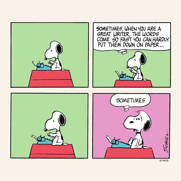 Snoopy -Writer's block