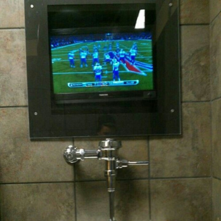 Man Cave Miranda : Man cave bathroom tv urinal decor pinterest
