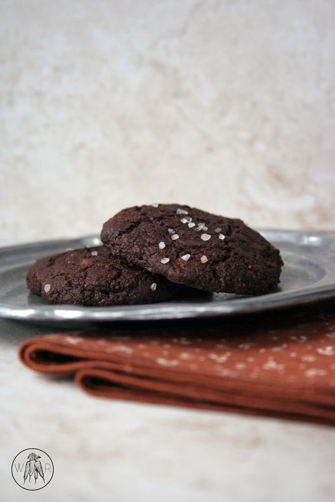 Salted Double Chocolate Chunk Cookies | Gluten free, dairy free, grain ...