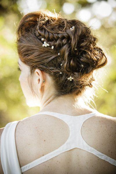 #hairstyles braided❤ bun Photography by amaranthweddingphotography.com