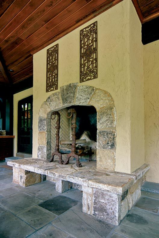 Rustic stone fireplace fireplaces pinterest for Rustic rock fireplaces