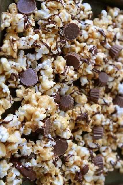 Reese's Peanut Butter Cup Popcorn | Recipe