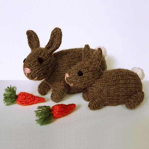 Knitting Patterns For Pet Rabbits : Knitted pet bunny rabbits pattern by Kath Dalmeny
