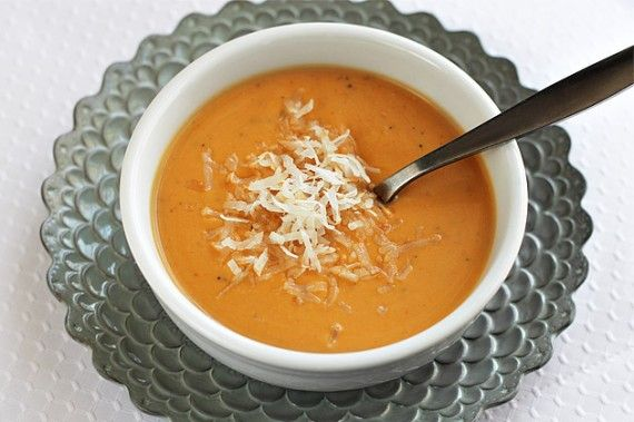 Coconut-Sweet Potato Bisque. Just made this for dinner, and it's a ...