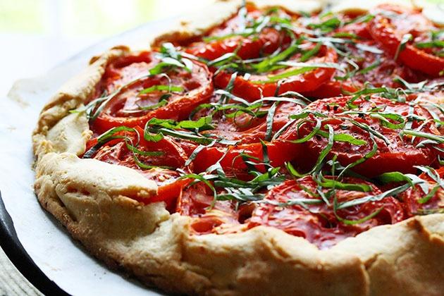 Rustic Tomato-Basil Tart | can't stop eating | Pinterest