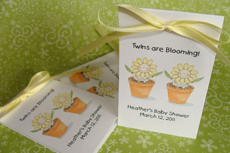twins baby shower flower seeds party favors wildflowers cij christmas