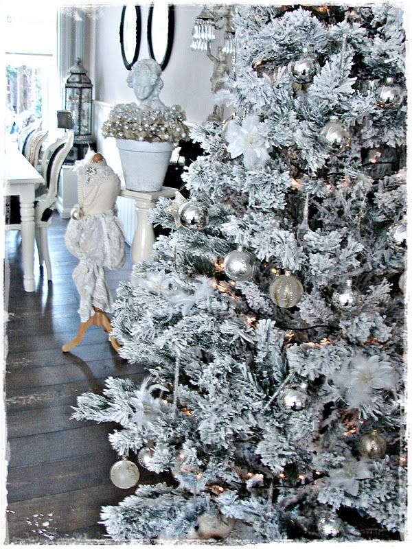white christmas tree kerst christmas pinterest