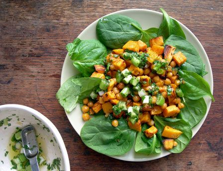 ... month. very delish. Roasted and Spiced Chickpeas and Sweet Potatoes