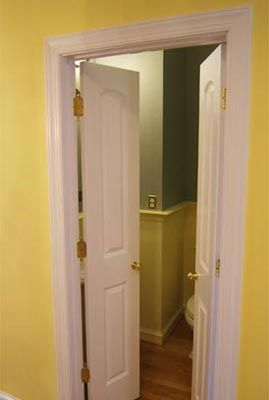 Double french door for bathroom laundry room pinterest - Small french doors for bathroom ...