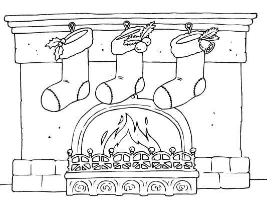 Christmas Scene Coloring Pages More free christmas coloring