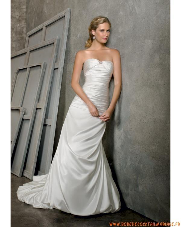 Robe de mariée bustier fourreau satin  Créateur robe de mariée ...