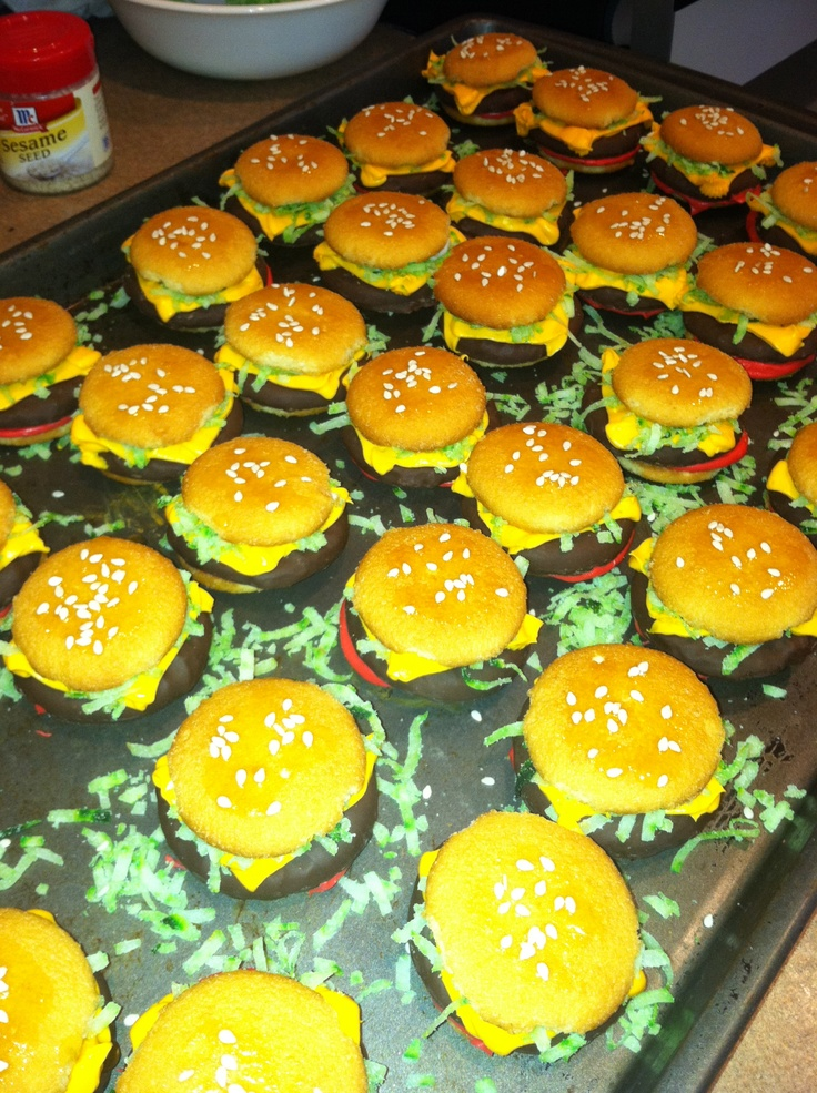 Mini cheeseburger cookies | Things I've Made... | Pinterest