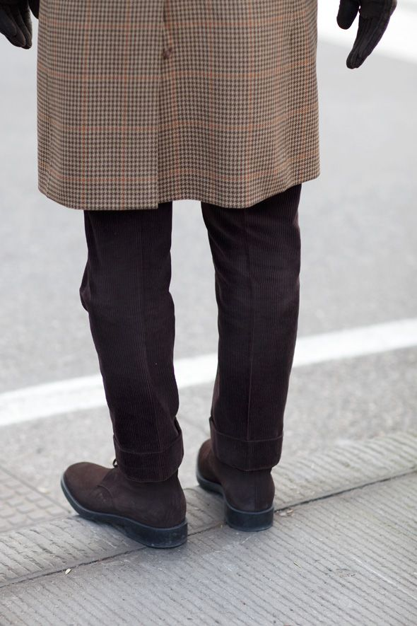 Brown pants for fall...or anytime of the year. thesartorialist.com
