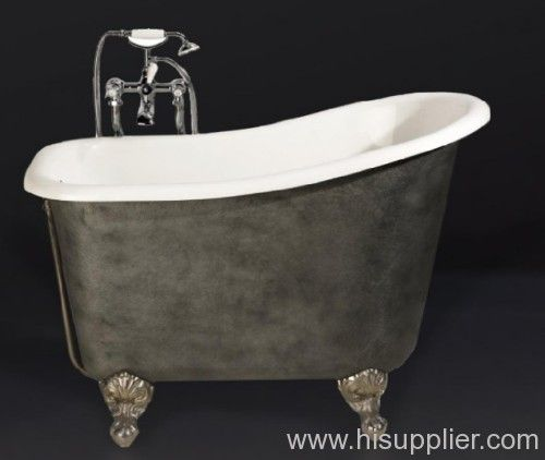 Small bathtub with clawfoot for the home pinterest for Clawfoot tub in small bathroom