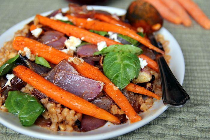 warm farro salad | cooking experiments | Pinterest