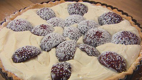 Plum and Mascarpone Tart | Pies, Tarts & Cobblers | Pinterest