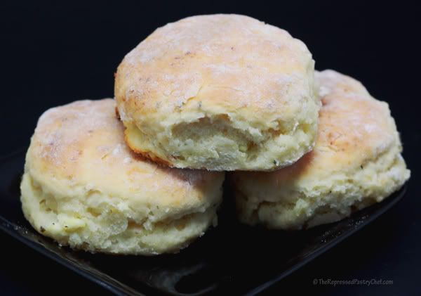 ... with cheese and herbs | Garlic, Cheese & Herb Buttermilk Biscuits