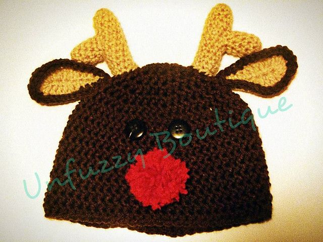 Free Reindeer Hat Crochet Pattern For Dogs : Nosey Little Reindeer ~ free pattern Animal Hats ...