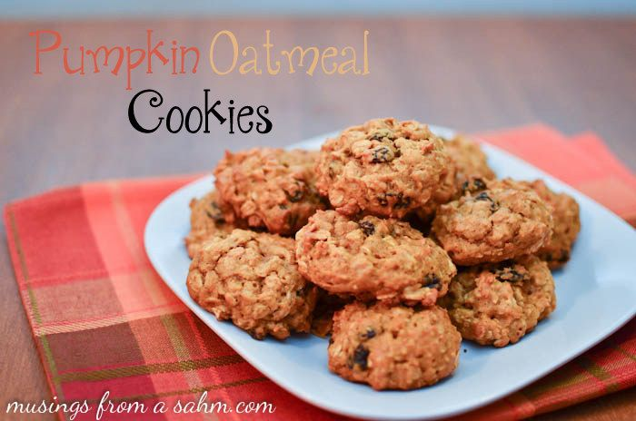 Pumpkin Oatmeal Cookies recipe - a yummy treat for the kids (and ...