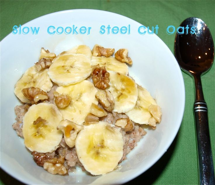 Steel cut oats in the slow cooker - aren't steel cut oats suppose to ...