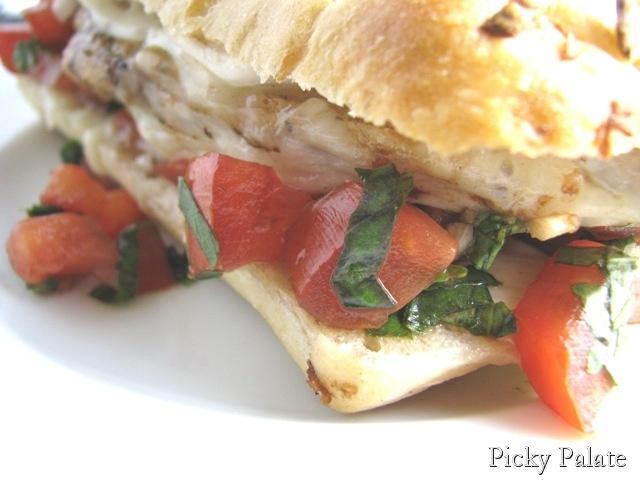 Garlic Toasted Balsamic Chicken Bruschetta Sandwich #Recipe