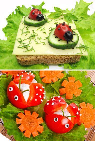 Ladybug tomatoes.