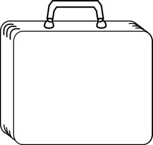 Plain White Suitcase clip art | Sunday School | Pinterest
