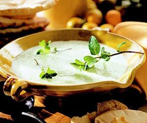 -yogurt-mint soup: The combination of flavors in this chilled soup ...