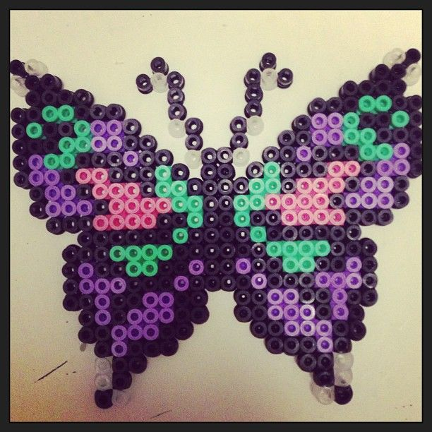 butterfly hama perler by pagey163 butterflies