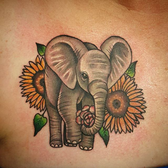 Elephant footprints tattoo