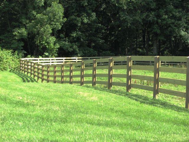 Rail horse fencing fence pinterest