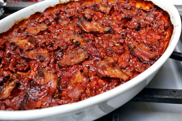 Bacon BBQ Baked Beans {w/ Homemade BBQ Sauce} via From the Little ...