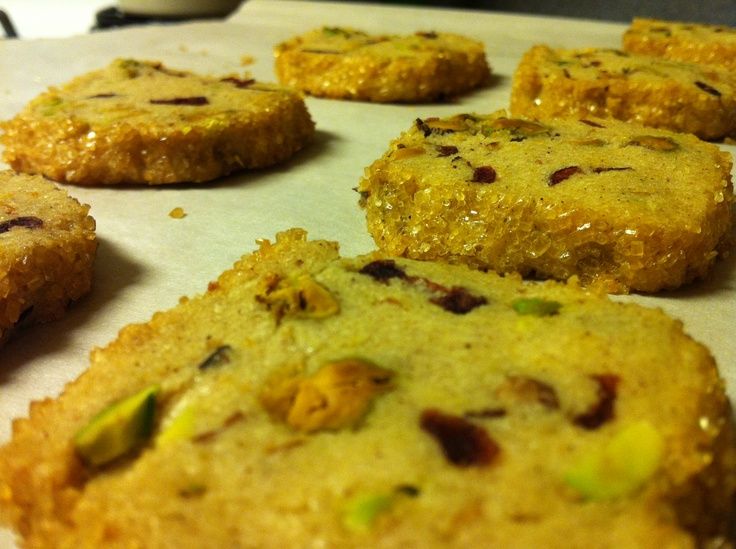 Pistachio Cranberry Icebox Cookies- the perfect grown up cookie.
