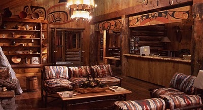 The lobby of The Great Northern hotel from Twin Peaks.