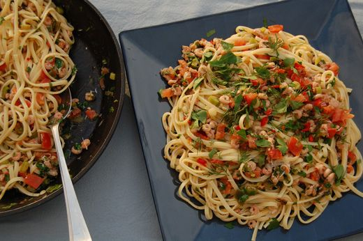 linguine with crab lemon chili and mint linguine with crab lemon chile ...