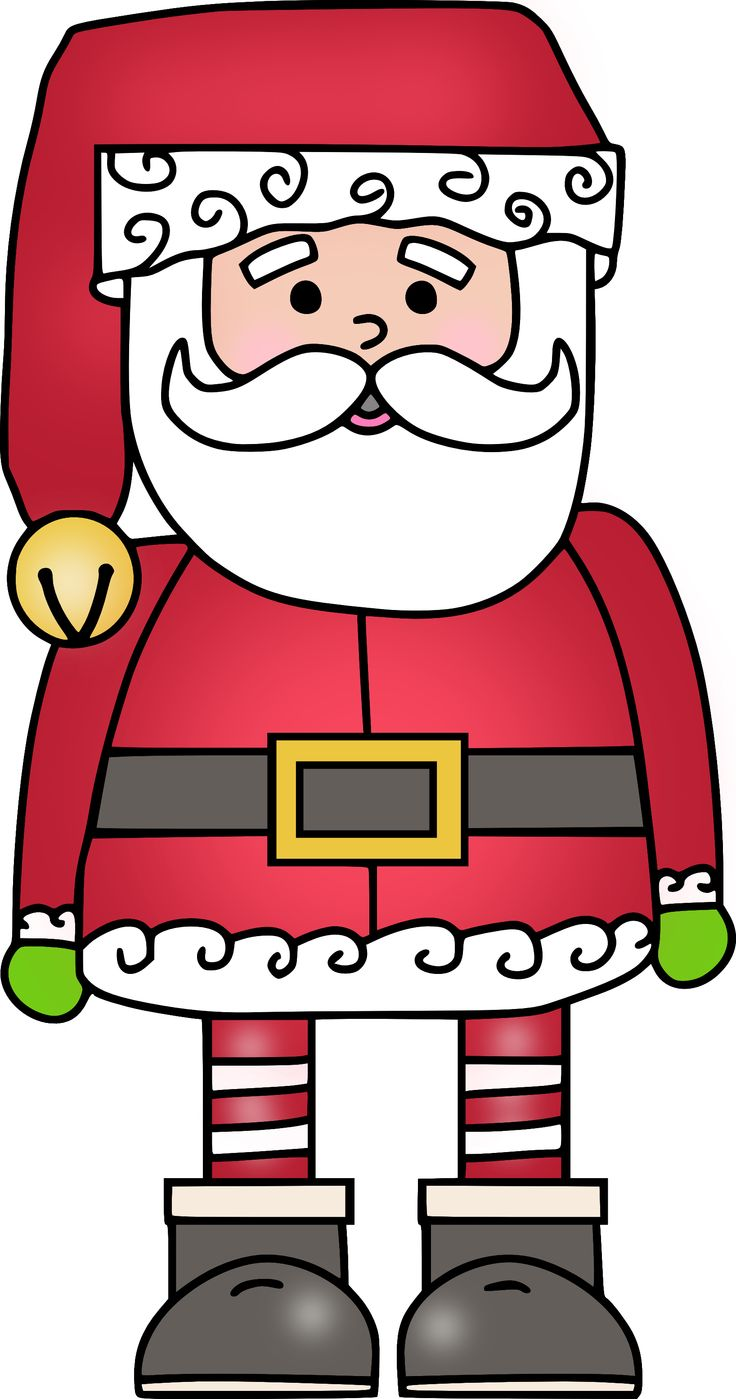 FREE- Santa clip art | Frames, Borders, Fonts, etc. | Pinterest