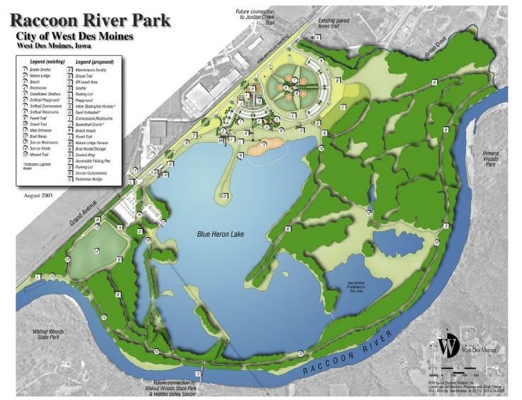 Raccoon River Park Map Our Parks Pinterest