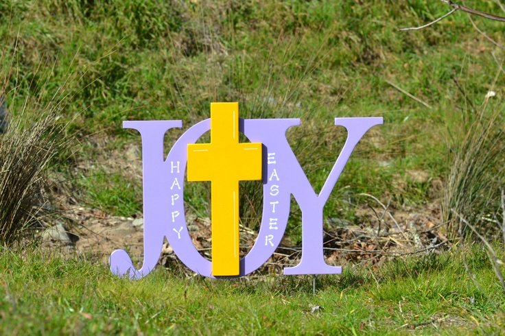 Easter religious outdoor yard decoration sign - Outdoor easter decorations ...