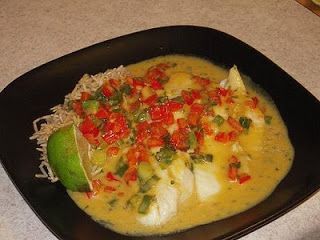 Broiled Tilapia with Thai Coconut-Curry Sauce: Make rice Bake fish in ...