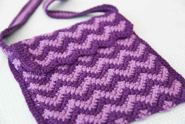 Crochet Patterns For Kids Bags : crochet girls handbag Kids Ripple Bag Yarn Pinterest