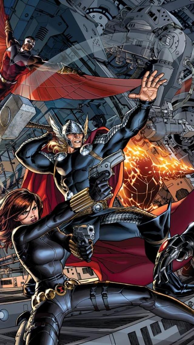 Black widow thor falcon avengers pinterest - Faucon avengers ...