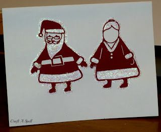 Santa and Mrs Claus Christmas Card | Christmas Crafts | Pinterest