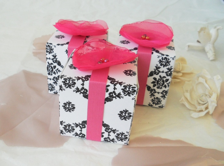 Wedding Gift Ideas Michaels : Wedding/shower favor boxesblack and white with by LavenderandLily, USD87 ...