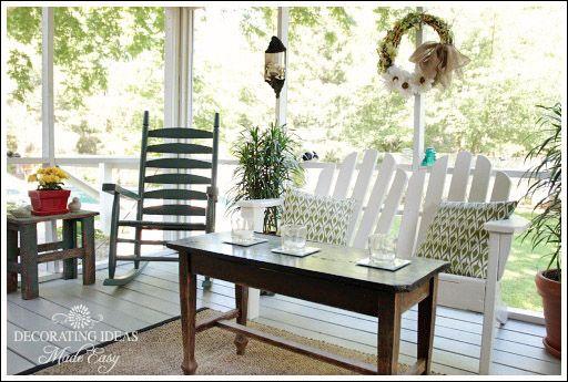 porch decorating ideas on a budget sun rooms and. Black Bedroom Furniture Sets. Home Design Ideas