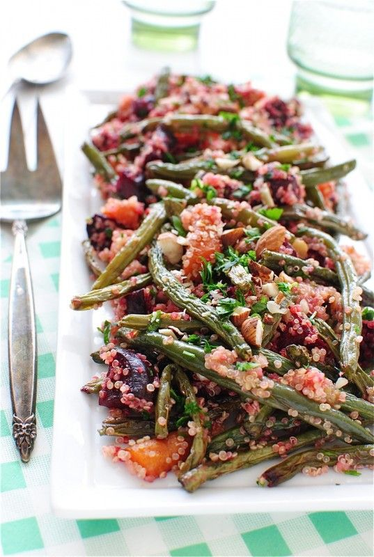 Roasted Vegetable Quinoa Salad Recipe — Dishmaps