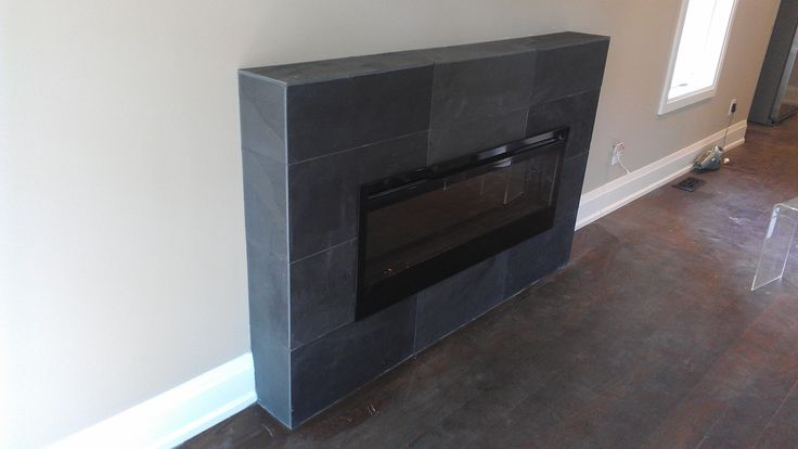fireplace surround using slate tiles tiles my work pinterest