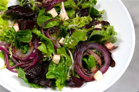 Beet Salad with Grilled Red Onions, Goat Cheese, and Kalamata ...