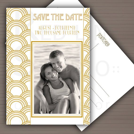 save the date | Great Gatsby Inspired Wedding | Pinterest