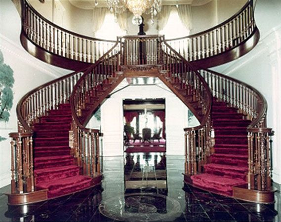 Double spiral staircase for my custom home pinterest for Double curved staircase